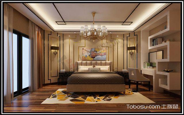 现代风格欧式主卧室装修图片欣赏_土拨鼠装修图片