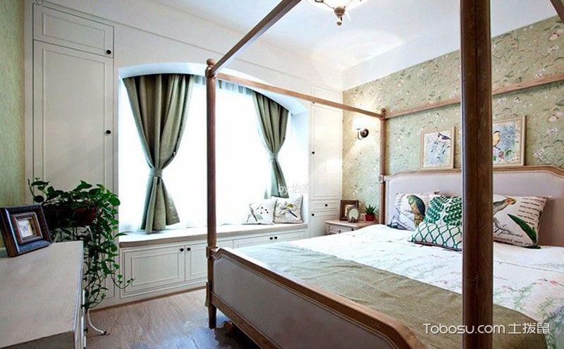 简欧美式卧室飘窗装修效果图,生活在此处慢下来