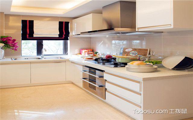 米白色厨房装实例,土拨鼠米白色厨房装修效果图