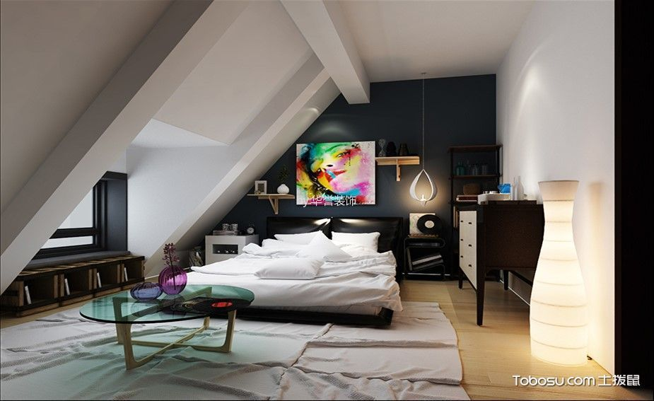 时尚阁楼卧室装修设计