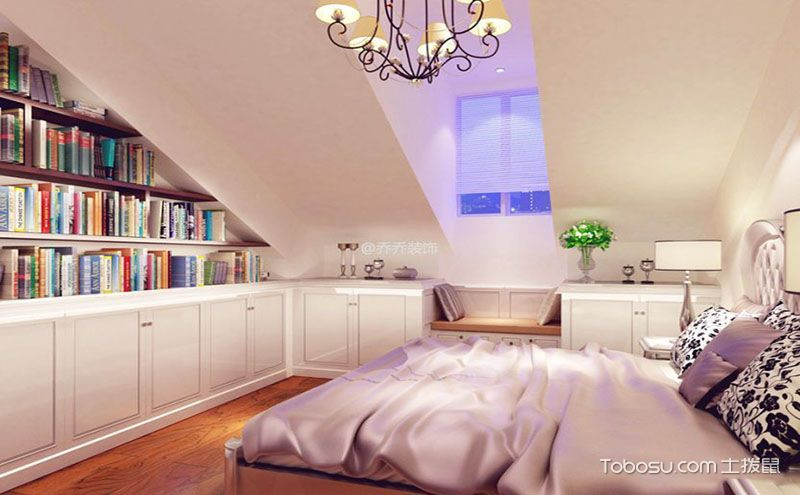 简欧风格阁楼卧室装修设计