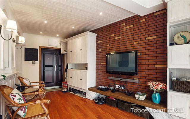 客厅背景装修石材