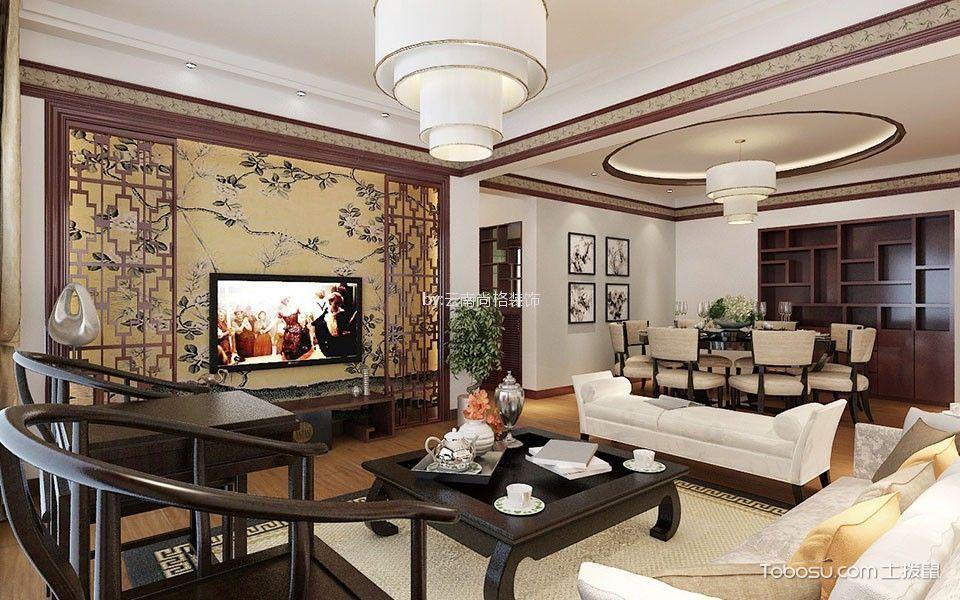 中式客厅背景墙设计效果图,给你的视觉带来冲击