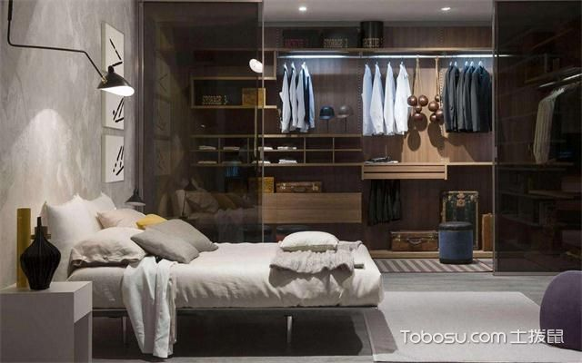2017大年夜户型卧室更衣室装修后果图