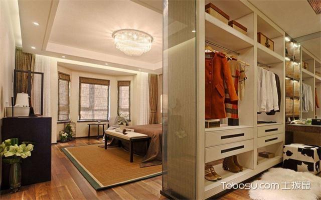 2017大年夜户型卧室更衣室装修后果图开放式