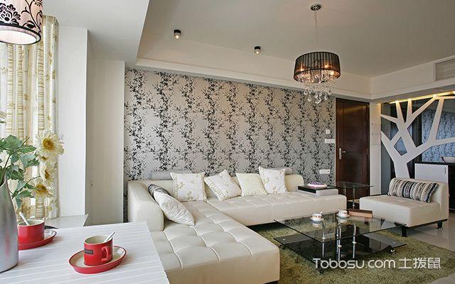 90平米房子沙发背景墙