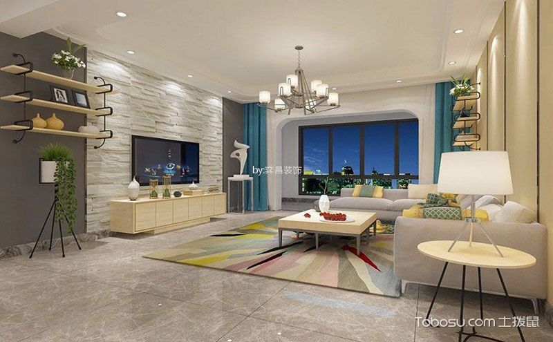 客厅电视背景墙装饰效果图,让你的视觉不再单调!