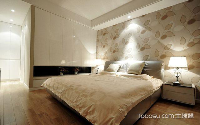 杭州三室两厅简约风格主卧设计