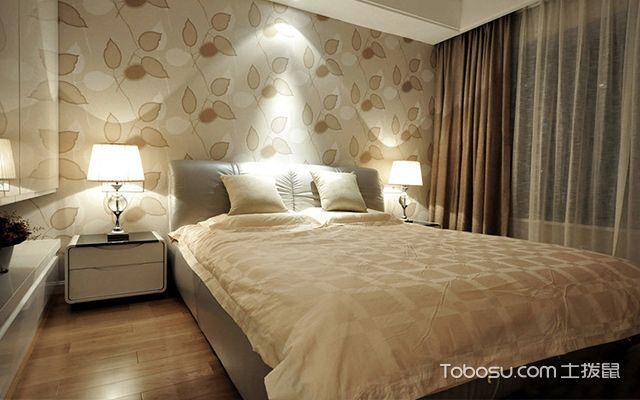 杭州三室两厅简约风格主卧背景墙