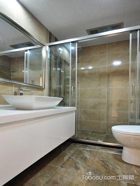 杭州三室两厅简约风格卫生间设计