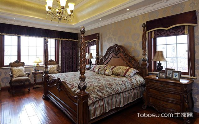 简美风格卧室装修设计图之复古美式