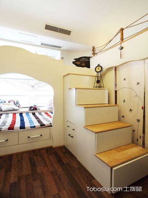 佛山130平米三室两厅田园装修效果图 儿童房