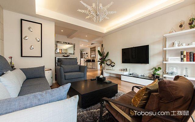 福州100平米现代简约装修案例客厅