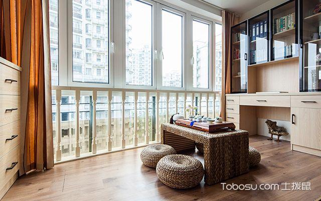 福州100平米现代简约装修案例阳台