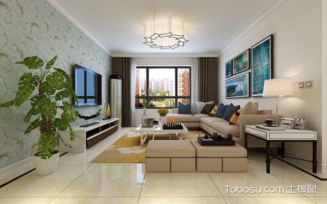 140平现代简约装修风格客厅