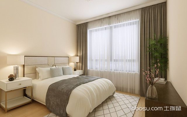 140平现代简约装修风格卧室
