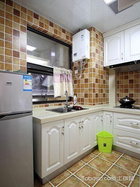 小厨房装修设计遵循的原则之田园厨房