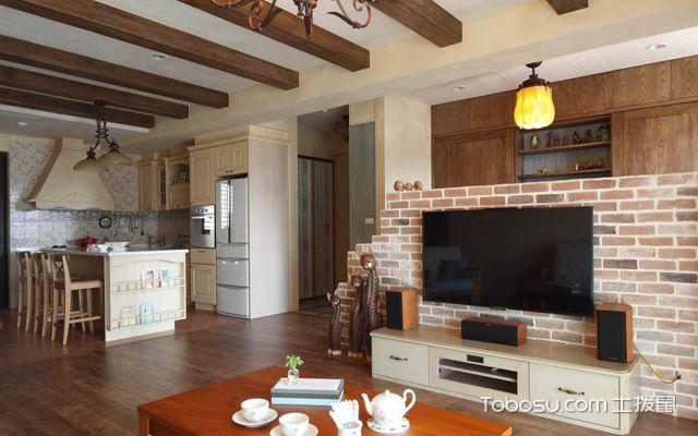武汉110平米田园风格婚房装修图片 客厅