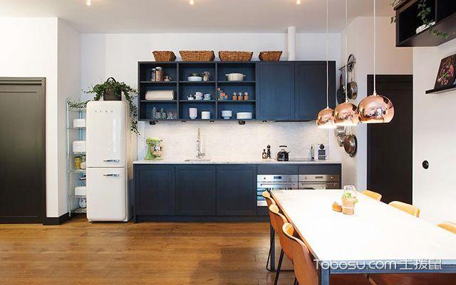 徐州95平米简欧时尚装修案例开放式厨房