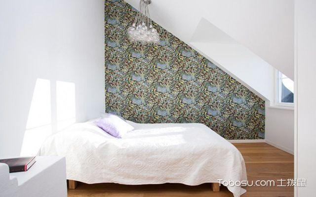 2017不规则卧室背景墙装修效果图 轻松