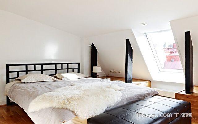 2017不规则卧室背景墙装修效果图 宁静