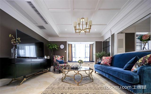 最新89平米美式风格三房两厅装修案例之电视墙