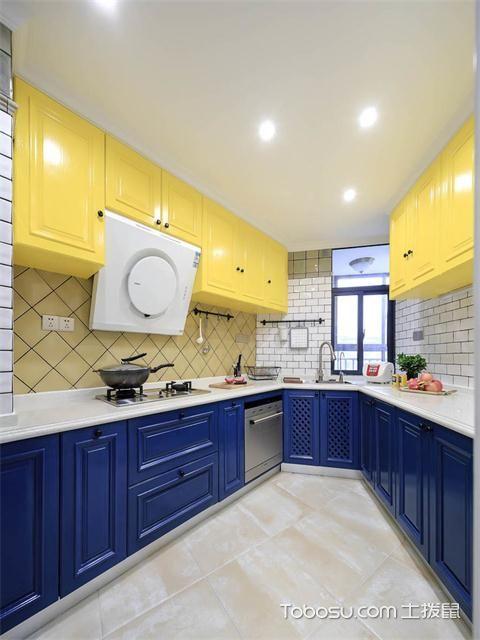 最新89平米美式风格三房两厅装修案例之厨房