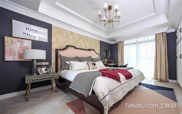 最新89平米美式风格三房两厅装修案例之卧室