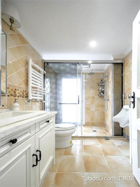最新89平米美式风格三房两厅装修案例之卫生间