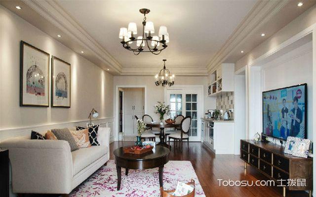广州110平米美式三居室装修效果图 玄关