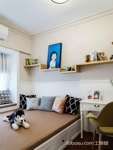 广州110平米美式三居室装修效果图 次卧