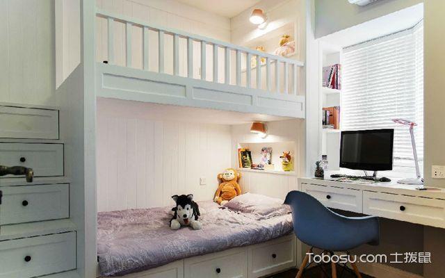 广州110平米美式三居室装修效果图 儿童房