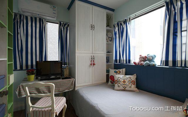 扬州120平米三室两厅田园装修风格书房