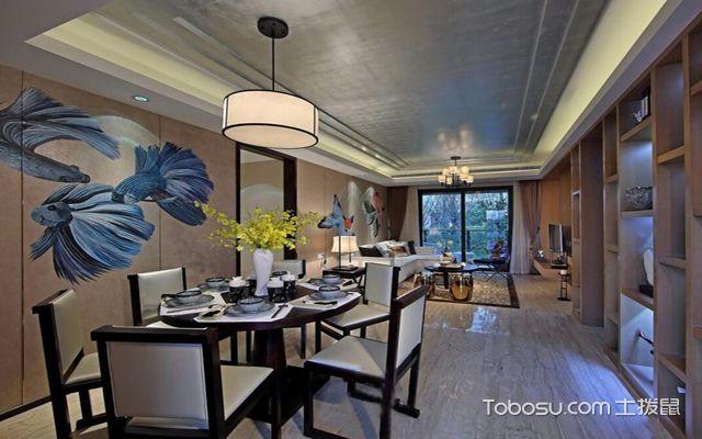 西安100平米中式两室一厅装修效果图 餐厅