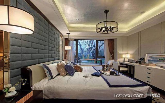 西安100平米中式两室一厅装修效果图 主卧