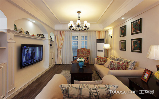 南昌105平米3室1厅现代设计案例之客厅