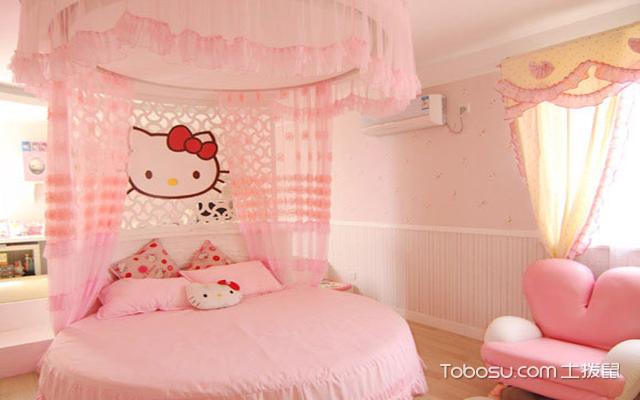 最新大户型粉色公主房效果图 品味