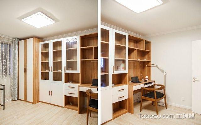 90平米两室一厅拎包入住装修效果图 书房