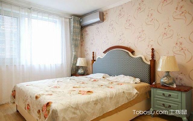 90平米两室一厅拎包入住装修效果图 卧室