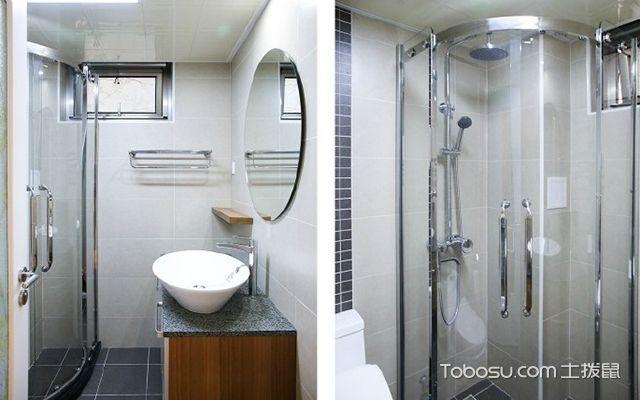 90平米两室一厅拎包入住装修效果图 卫生间