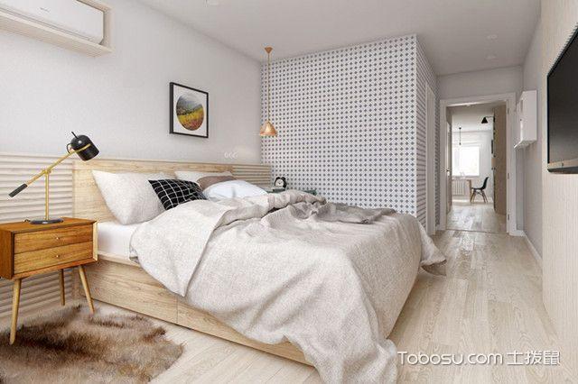 80平简约公寓装修图卧室