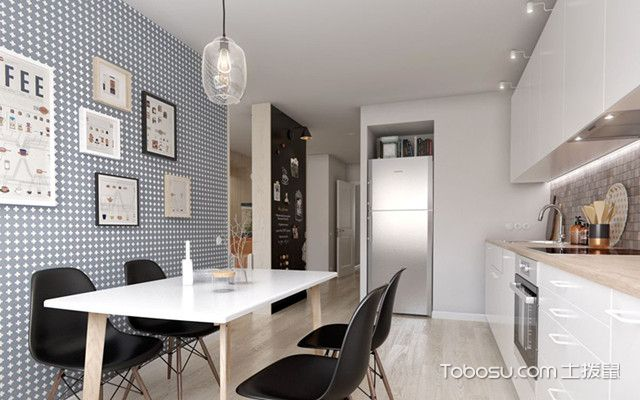 80平简约公寓装修图厨房
