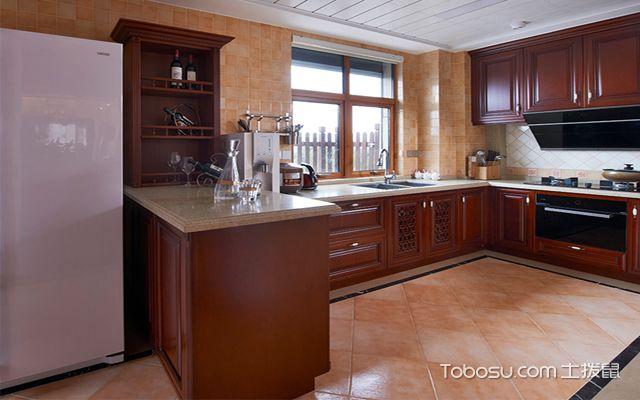 大户型斜铺地砖装修效果图 厨房