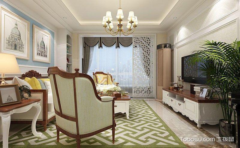 客厅隔断设计装修效果图,让客厅更显朦胧韵味