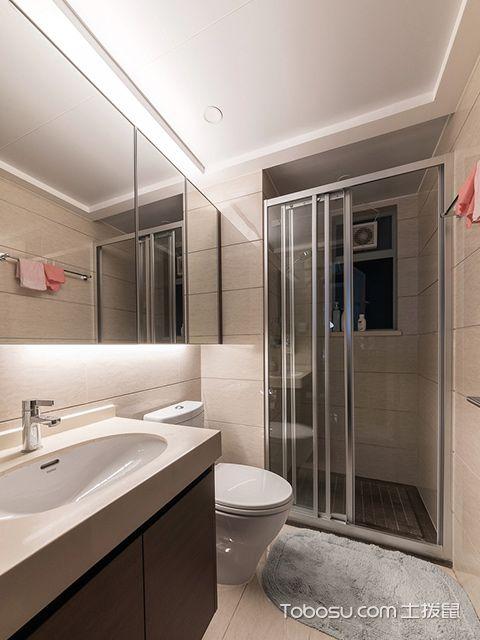 徐州100平米三房优雅美式风格卫生间