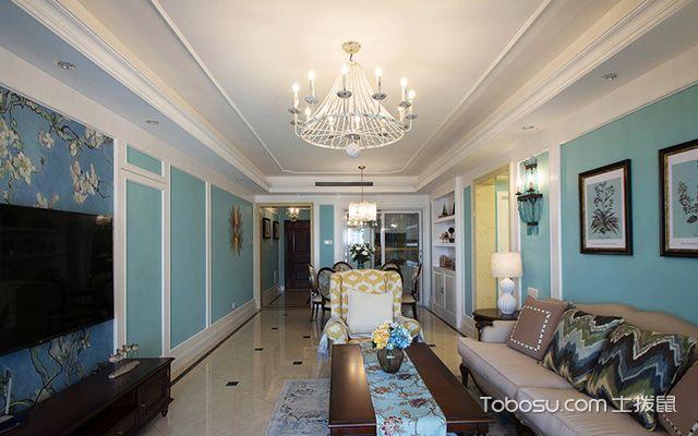 120平四房两厅拎包入住美式家居客厅
