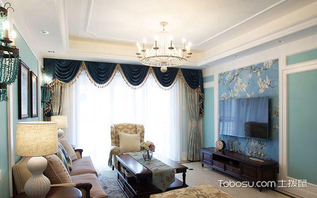 120平四房两厅拎包入住美式家居客厅设计
