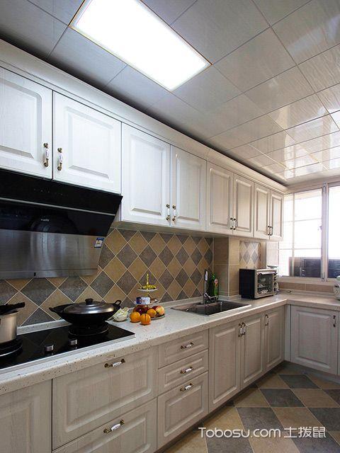 120平四房两厅拎包入住美式家居厨房