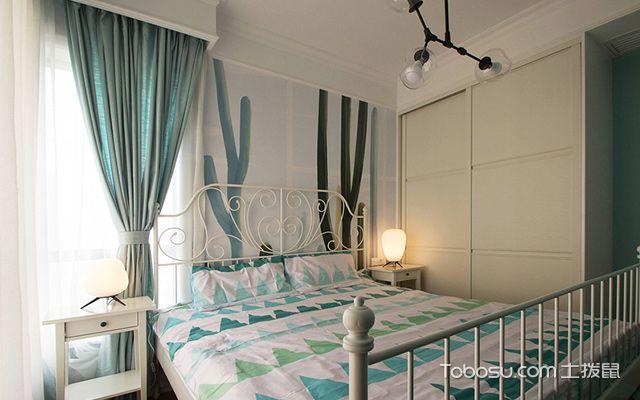 120平四房两厅拎包入住美式家居次卧
