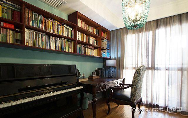 120平四房两厅拎包入住美式家居书房